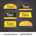 icons taxi over black... | Shutterstock .eps vector #120254842