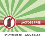 Lactose free banner for food allergy concept - stock photo