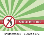 Shellfish free banner for food allergy concept - stock photo