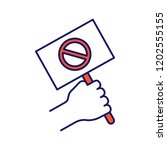 protest banner in hand color... | Shutterstock .eps vector #1202555155