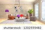 interior of the living room. 3d ... | Shutterstock . vector #1202555482