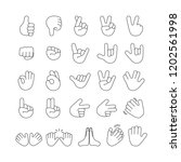 big set of hand emoji. emoticon ...   Shutterstock .eps vector #1202561998