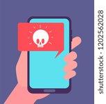 virus alert. malware... | Shutterstock .eps vector #1202562028