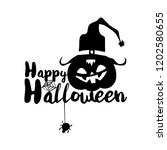 happy halloween party title... | Shutterstock .eps vector #1202580655