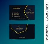 luxury business card design... | Shutterstock .eps vector #1202584045