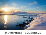 Winter Sunset In Iceland. The...