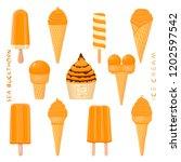 natural sea buckthorn ice cream ... | Shutterstock .eps vector #1202597542
