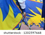 competitions of the flag wavers ... | Shutterstock . vector #1202597668