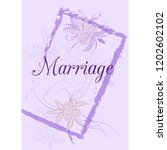 wedding invitation card suite... | Shutterstock .eps vector #1202602102