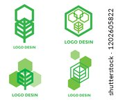 vector logo design elements set ... | Shutterstock .eps vector #1202605822