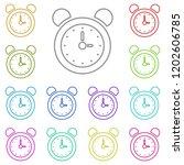 alarm clock icon in multi color....