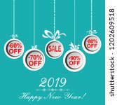 2019 happy new year. christmas... | Shutterstock . vector #1202609518