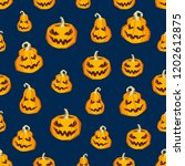 halloween seamless pattern.... | Shutterstock .eps vector #1202612875
