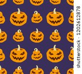 halloween seamless pattern.... | Shutterstock .eps vector #1202612878