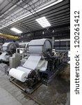 paper mill machine | Shutterstock . vector #120261412