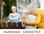 blonde mature woman in... | Shutterstock . vector #1202627515