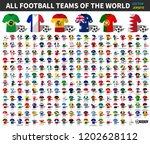 set of all national football or ... | Shutterstock .eps vector #1202628112