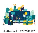 vector illustration  online... | Shutterstock .eps vector #1202631412