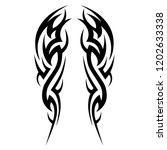 tattoo tribal sleeve design ... | Shutterstock .eps vector #1202633338