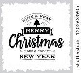 merry christmas. typography.... | Shutterstock .eps vector #1202633905