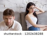 offended frustrated girlfriend... | Shutterstock . vector #1202638288