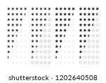 vector image set of rating...   Shutterstock .eps vector #1202640508