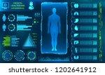 hud ui for medical app....