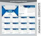 desk calendar 2019 template... | Shutterstock .eps vector #1202645575