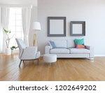 idea of a white scandinavian... | Shutterstock . vector #1202649202