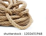 hank of rope closeup on white... | Shutterstock . vector #1202651968