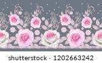 seamless pattern. decorative...   Shutterstock . vector #1202663242