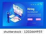isometric hiring  recruitment... | Shutterstock .eps vector #1202664955