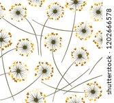 dandelion blowing plant vector...   Shutterstock .eps vector #1202666578