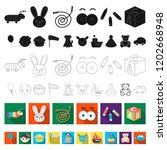 children toy flat icons in set... | Shutterstock .eps vector #1202668948