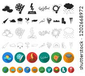 different weather flat icons in ... | Shutterstock .eps vector #1202668972