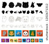 wild animal flat icons in set... | Shutterstock .eps vector #1202671312