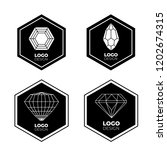 vector logo design elements set ... | Shutterstock .eps vector #1202674315