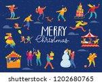 vector christmas winter poster... | Shutterstock .eps vector #1202680765