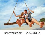 vacation  loving couple on the... | Shutterstock . vector #120268336
