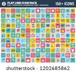 vector pack containing over 150 ... | Shutterstock .eps vector #1202685862