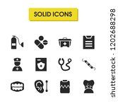medical icons set with nerve of ...