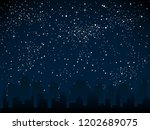 realistic starry sky with blue... | Shutterstock .eps vector #1202689075