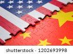 3d illustration. two nations... | Shutterstock . vector #1202693998