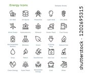 energy icons   outline styled... | Shutterstock .eps vector #1202695315
