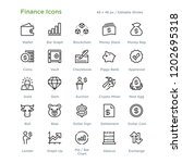 finance icons   outline styled... | Shutterstock .eps vector #1202695318