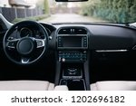 Modern Car Interior. White...