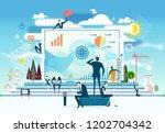 business people working... | Shutterstock .eps vector #1202704342