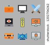 controller icon set. vector set ... | Shutterstock .eps vector #1202706262
