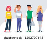 set of people in different... | Shutterstock .eps vector #1202707648