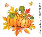 illustration of autumn pumpkin... | Shutterstock .eps vector #1202708152